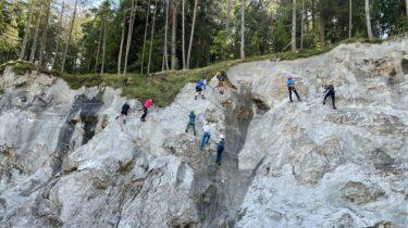 """Neuer Klettersteig am Achensee Der neue Klettersteig """"Christlumsiedlung"""" ist ein ideales Übungsterrain für Beginner, Wiedereinsteiger und Familien ©Achensee Tourismus"""
